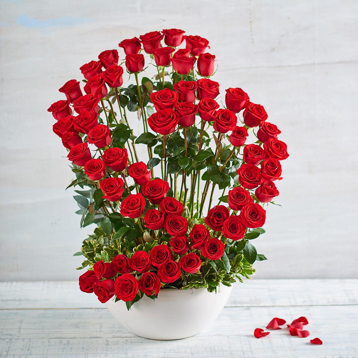 Rosas Rojas Gran Corazón De Rosasmodelo 488